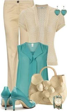 Ideas de looks: como combinar el color verde y el azul. Inspírate..