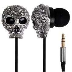 Newest Metal Skull Pattern In-ear Powerful Bass Stereo Earphone Including A Iron Box-7.02 and Free Shipping| GearBest.com