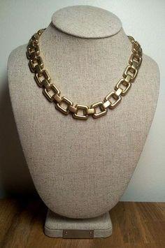 J CREW CLASSIC GOLD LINK STATEMENT BIB NECKLACE NWT J Crew Necklace, Beaded Necklace, Classic Gold, Link, Jewelry, Fashion, Beaded Collar, Moda, Pearl Necklace