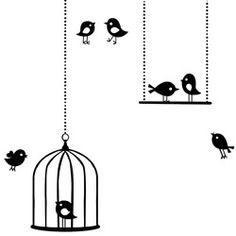 LouLeChien - ferm living -  muursticker tweeting birds