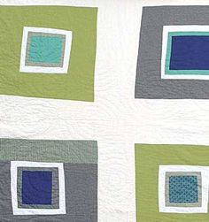 Pretty Square,green detail // DS quilts