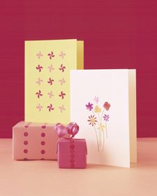 Instead of using your pencil eraser to make marks disappear, turn it into a stamp and make playful pictures appear on cards and wrapping paper.