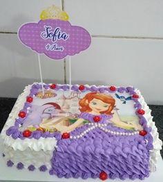 Baby Birthday Cakes, 4th Birthday, Sofia Cake, Kids Schedule, Princess Sofia, Pastry Cake, Pastry Recipes, No Bake Cake, Cake Decorating