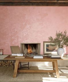 Ralph Lauren Paint's new 2-step specialty finish, Polished Patina, in Rosa Aurora - a sophisticated pink with beautiful depth #RLPaint #Sweeps