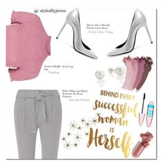 """""""Successful Woman"""" by jkatindi on Polyvore featuring Yves Saint Laurent, Topshop, Gucci, Dorothy Perkins, LAQA & Co., Maybelline, Global Views and polyvoresmoststylish"""