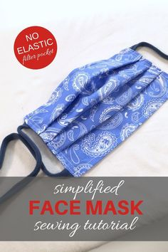 Nähen Simplified FACE MASK / No Elastic / Filter Pocket / Upcycled T-Shirt Ties You Make it Simple Face mask Elastic Face Face mask diy Filter Mask nähen Pocket Simple Simplified Ties Tshirt Upcycled Face Masks For Kids, Easy Face Masks, Homemade Face Masks, Diy Face Mask, Sewing Patterns Free, Sewing Tutorials, Sewing Hacks, Sewing Crafts, Free Pattern