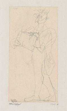 Paul Klee  'Man with  Barrel Organ' `1905