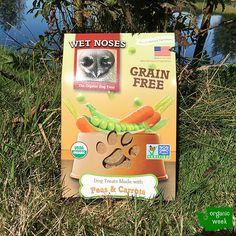 Organic Grain Free Peas & Carrots Wet Noses Dog Treats.