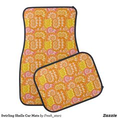 Swirling Shells Car Mats Floor Mat
