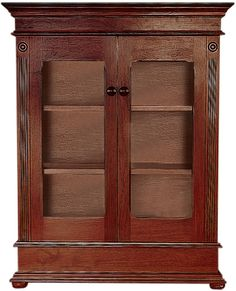 Lampung Short Bookcase With Glass Doors | Wetherlys