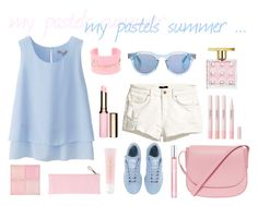 """pastels summer"" by lethinka on Polyvore"