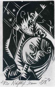 homme et femme ( `nocturnal` scène - (Otto Dix)