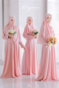 Muslimah Wedding Dress, Hijab Style Dress, Hijab Wedding Dresses, Bridesmaid Dresses, Muslim Girls, Post Wedding, Hijab Fashion, Mother Of The Bride, Pretty Dresses