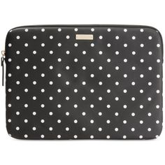 "kate spade new york Mini Pavillion Dot 13"" Laptop Case Sleeve (£56) ❤ liked on Polyvore featuring accessories, tech accessories, kate spade, kate spade laptop case, laptop sleeve cases, mini laptop case and polka dot laptop case"