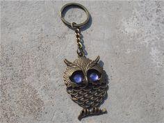 Items similar to Owl Keychain , Bronze Owl keychain, friendship keychain , Owl with spirituality keychain gift, Strap keychain on Etsy Owl Keychain, Key Chain, Hand Stamped, Friendship, Spirituality, Bronze, Personalized Items, Unique Jewelry, Handmade Gifts