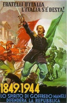 "Spirit of The Italian Hero Garibaldi from the ""Risorgimento"" leads the RSI Army in battle"