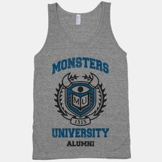 Sleeveless top: Monsters University Alumni (Vintage Tank) | HUMAN  I WANT THIS SO BAD!  $27.00
