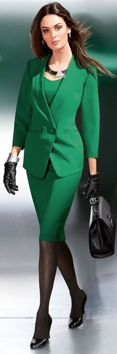 emerald green suit, the perfect fit prevents this from looking leprechaun-y #interviewoutfit #workoutfit #bfcloset
