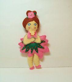 Nutcracker Ballet Character Ornament Handmade Wool by woolhearts