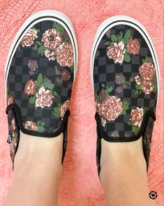 I love these beautiful floral Vans slipons! So comfy!