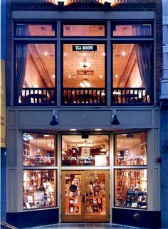 now this looks inviting. Crazy Wisdom Bookstore in Ann Arbor, MI. Crazy Wisdom Tea Room is the upstairs.  I used to work next door.