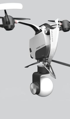 Check this out on leManoosh.com: #Black / White #Camera #Color Accent #Drone #Material Break #Structure #Transport #White