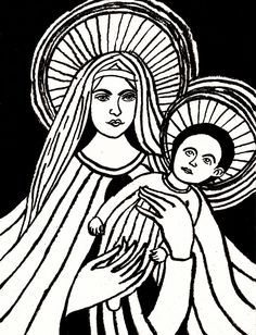 """""""Mary with child"""", ink on cardboard, 24 x 32 cm Mother Mary, Paintings, Ink, Children, Painting Art, Young Children, Boys, Virgin Mary, Paint"""