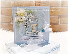 Christening, Decorative Boxes, Scrapbooking, Home Decor, Decoration Home, Scrapbook, Interior Design, Scrapbooks, Home Interior Design