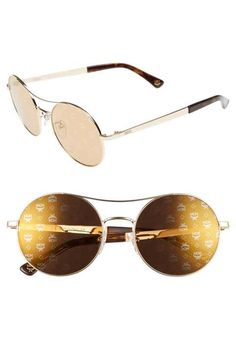 MCM 54mm Round Logo Sunglasses Cute Sunglasses, Round Logo, Sunglasses  Women Designer, Rounding b38a1e02f8