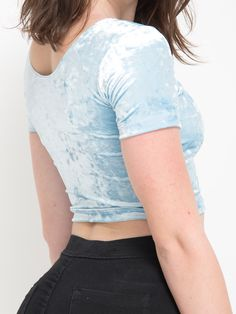 Crushed Velvet Crop Tee. #AmericanApparel
