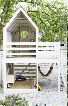Kristin Barlowe-Clauer's goals for her Best Outdoor Living. The Effective Pictures We Offer You Ab Backyard Fort, Backyard Playground, Backyard For Kids, Backyard Projects, Kids Outdoor Play, Outdoor Play Spaces, Kids Play Area, Cubby Houses, Play Houses