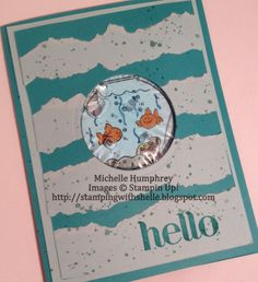 Stamping with Shelle: Fishin' Around - Hair Gel Card