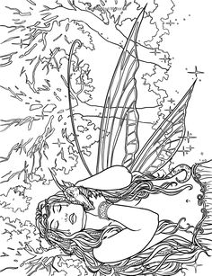 Artist Selina Fenech Fantasy Myth Mythical Mystical Legend Elf Elves Dragon Dragons Fairy Fae Wings Fairies Mermaids Mermaid Siren Sword Sorcery Magic Witch Wizard Coloring pages colouring adult detailed advanced printable Kleuren voor volwassenen coloriage pour adulte anti-stress kleurplaat voor volwassenen Line Art Black and White Enchanted