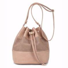 bolsa saco feminina cor bege - davinci - 01088