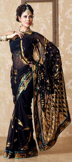 120743: Can you wear BLACK in festival? It can really look regal if Gold work is done.