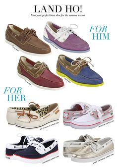 CeciStyle V97: Come Sail Away: Boat Shoe Guide for Men & Women by Cole Haan and Ceci Johnson - Land Ho! Find your perfect boat shoe for the summer season