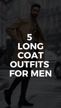 The Best 5 Winter Outfits With Long Coats Long Coat Outfit, Grey Outfit, Mens Fashion Blog, Suit Fashion, Casual Winter Outfits, Winter Fashion Outfits, Grey Denim Shirt, Long Grey Coat, Long Coats