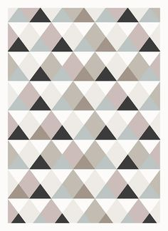 Geometrical triangle pattern print by SquireSquare