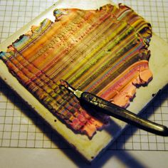 argile polymère bijouterie Faux Peruvian Fabric from scrap clay.  Fun use of tools. #Polymer #Clay #Tutorials