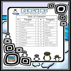 Student Research Links for Penguins by Digging Deep to Soar Beyond the Text Macaroni Penguin, Galapagos Penguin, Humboldt Penguin, Rockhopper Penguin, Penguin Species, African Penguin, King Penguin, Research Projects, Google Classroom