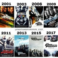 The fast and furious movie posters