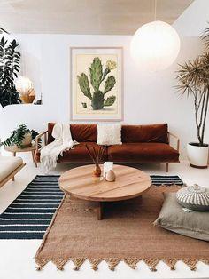 Scandinavian Living Room Design For Best Home Decoration 07 Boho Living Room, Living Room Interior, Living Room Furniture, Living Room Decor, Bohemian Living, Furniture Plans, Kids Furniture, Apartment Interior, Bohemian Style