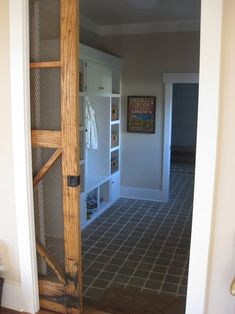 April Foster: mudroom and bathroom