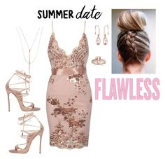 """Summer Dates"" by realestatemom ❤ liked on Polyvore featuring Dsquared2, Bliss Diamond, Lana, Summer, DateNight, dress and fashionset"
