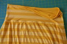 Reversible knit yoga band skirt. Love this idea.