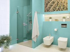Beachy Blue With White Accessories Goegeous Spa Like Bathroom With Frameless Shower Door Corner Shower Doors, Bathroom Shower Doors, Spa Like Bathroom, Frameless Shower Doors, Beach Bathrooms, Glass Shower Doors, Shower Door Hardware, Barnyard Door, Door Images