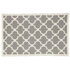 Just what I've been looking for: The Land of Nod | 8 x 10' Grey Magic Carpet Woven Rug in Patterned Rugs