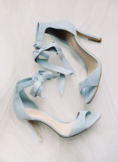 baby blue wedding day heels
