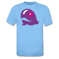 Pixel Whale Bubble Bobble Tee shirt