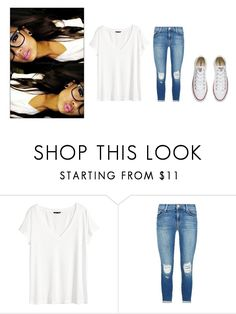 """Untitled #390"" by katelyn-style ❤ liked on Polyvore featuring H&M, J Brand and Converse"